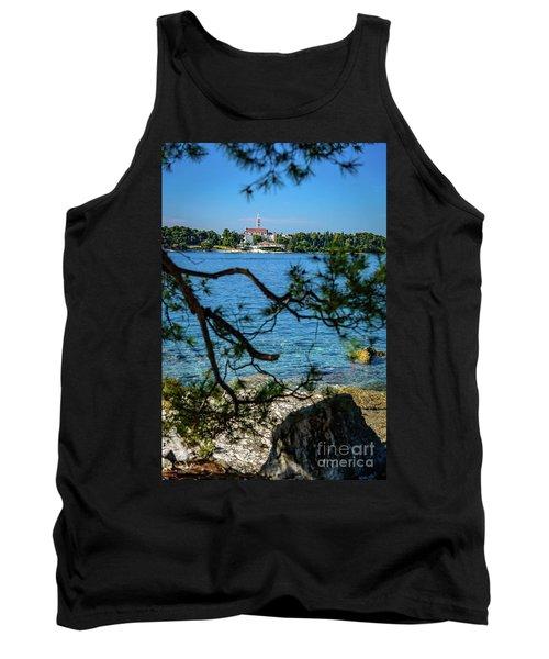 Rovinj Seaside Through The Adriatic Trees, Istria, Croatia Tank Top