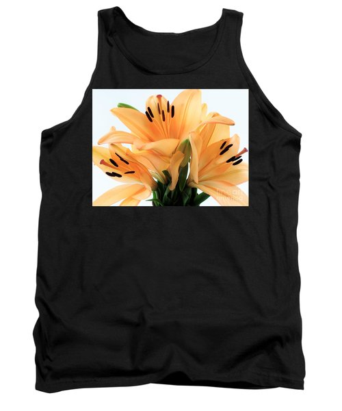 Tank Top featuring the photograph Royal Lilies Full Open - Close-up by Ray Shrewsberry
