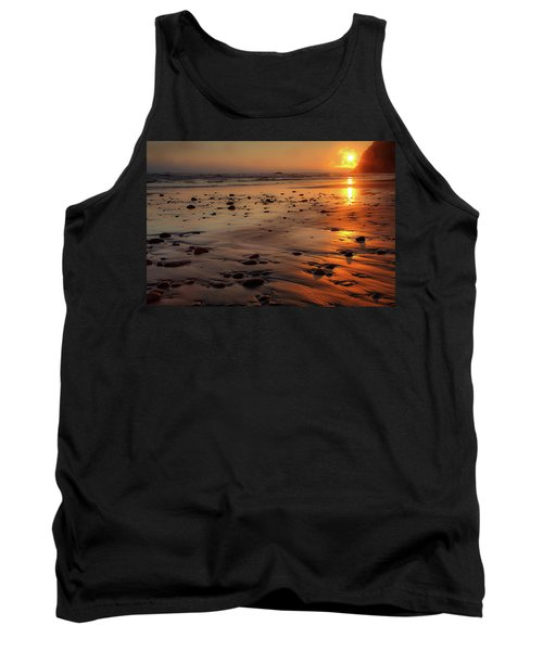 Tank Top featuring the photograph Ruby Beach Sunset by David Chandler