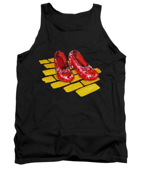 Ruby Slippers From Wizard Of Oz Tank Top