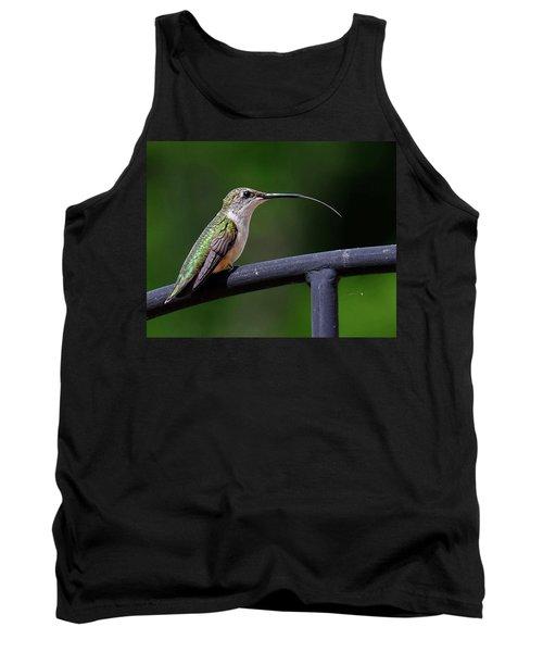 Ruby-throated Hummingbird Tongue Tank Top