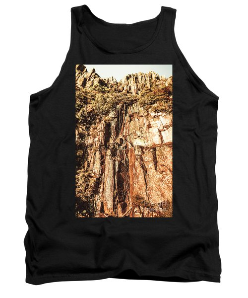 Rugged Vertical Cliff Face Tank Top
