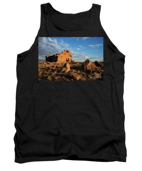 Ruins Of Yereruyk Temple Under Amazing Cloudscape, Armenia Tank Top