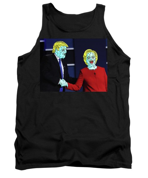 Tank Top featuring the painting Running Down The Same Cloth. by Chief Hachibi