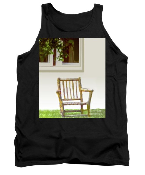 Rustic Wooden Rocking Chair Tank Top