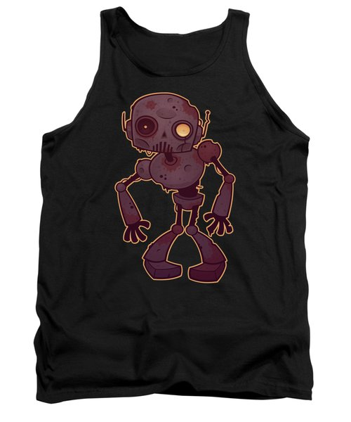 Rusty Zombie Robot Tank Top
