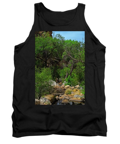 Tank Top featuring the photograph Sabino Canyon V49 by Mark Myhaver
