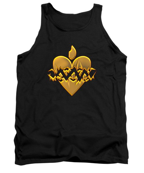 Sacred Heart Of Jesus Digital Art Tank Top