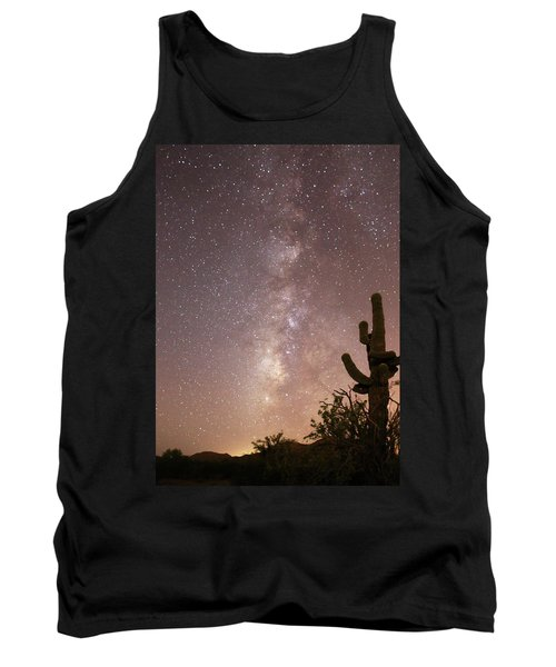 Saguaro Cactus And Milky Way Tank Top