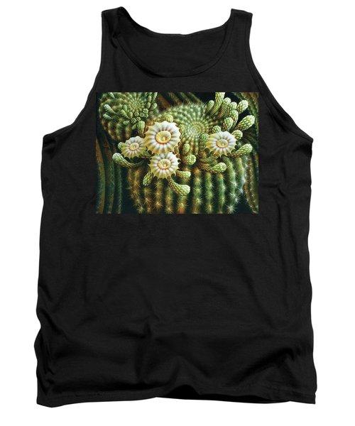 Saguaro Cactus Blossoms Tank Top by James Larkin
