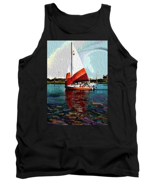 Sail Along On The Sea Tank Top by Vickie G Buccini