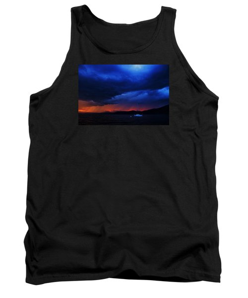 Tank Top featuring the photograph Sailboat In Thunderstorm by Sean Sarsfield