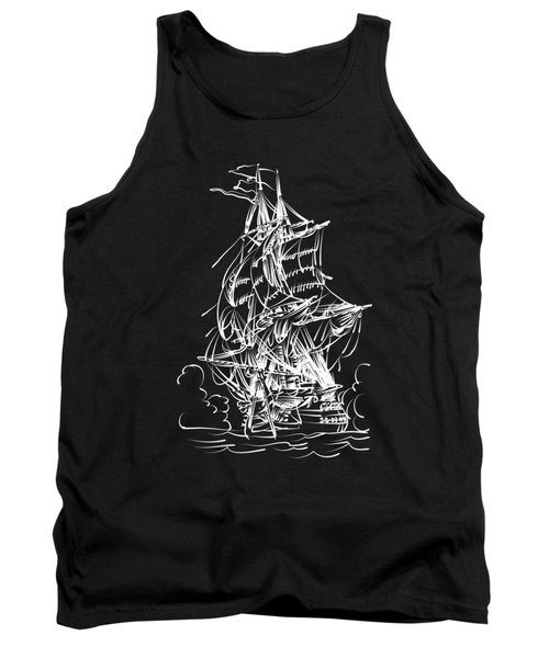 Tank Top featuring the painting Sailing 2  by Andrzej Szczerski