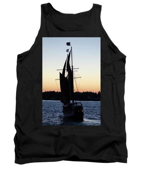 Sailing At Sunset Tank Top
