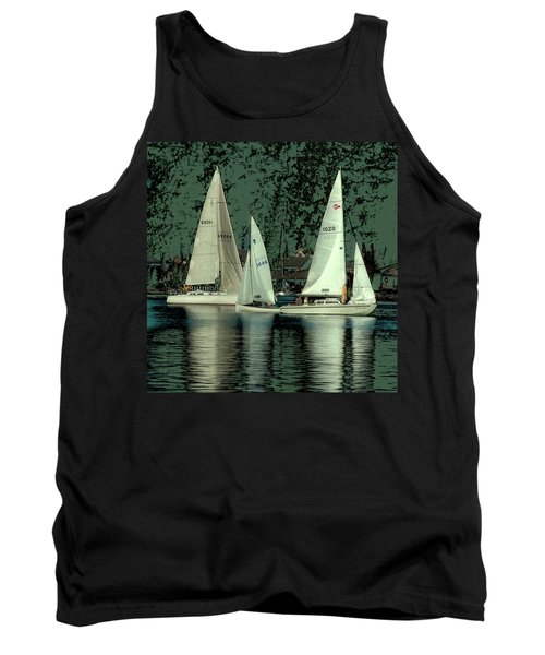 Sailing Reflections Tank Top by David Patterson