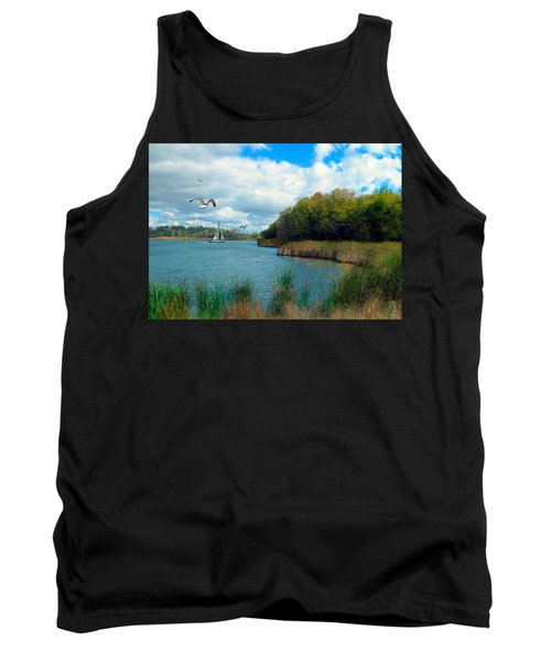 Sails In The Distance Tank Top by Cedric Hampton