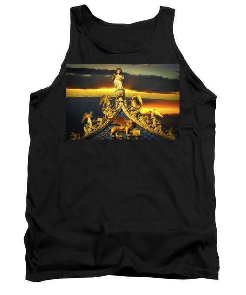 Tank Top featuring the photograph Saint Marks Basilica Facade  by Harry Spitz