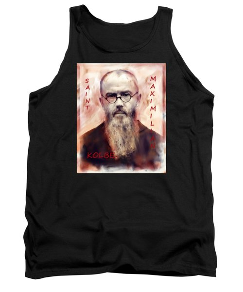 Tank Top featuring the painting Saint Maximilion Kolbe by Suzanne Silvir