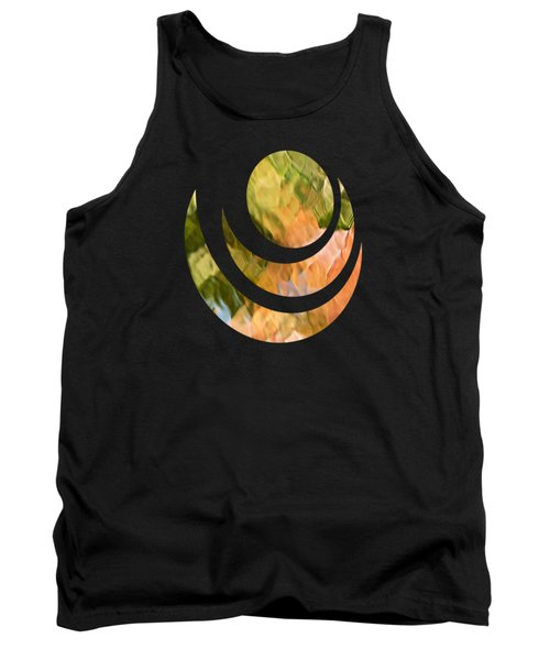 Salmon Mosaic Abstract Tank Top by Christina Rollo