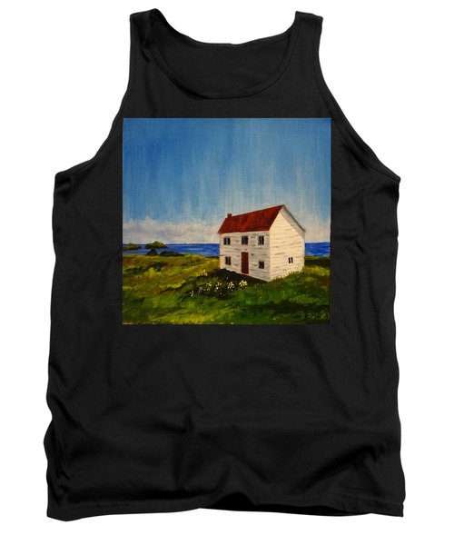 Saltbox House Tank Top by Diane Arlitt