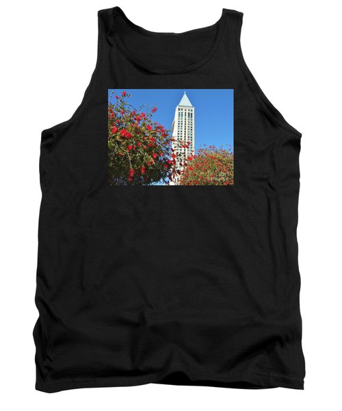 Tank Top featuring the photograph San Diego Building In Blossom by Jasna Gopic