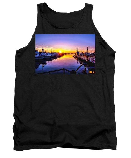 San Diego Harbor Sunrise Tank Top