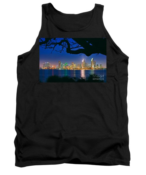 San Diego Skyline From Bay View Park In Coronado Tank Top