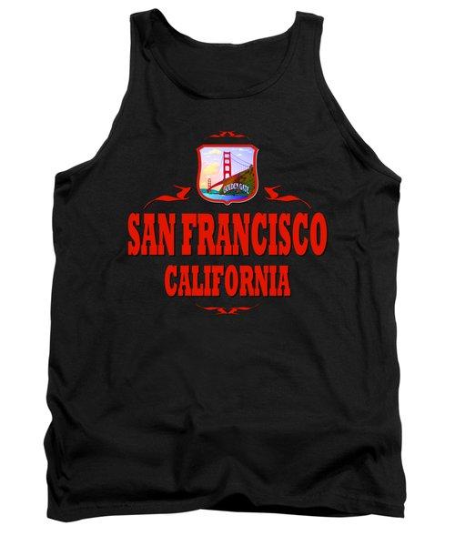 San Francisco California Golden Gate Design Tank Top