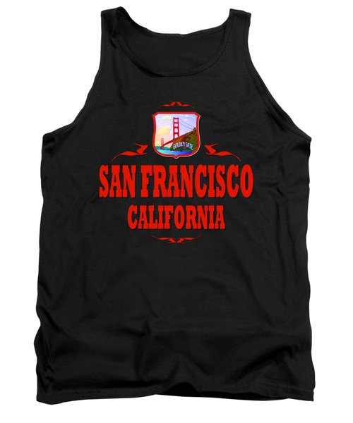 San Francisco California Golden Gate Design Tank Top