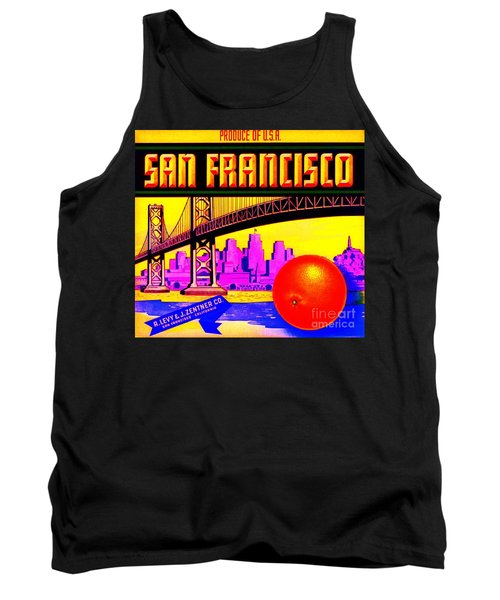 Tank Top featuring the painting San Francisco Oranges by Peter Gumaer Ogden