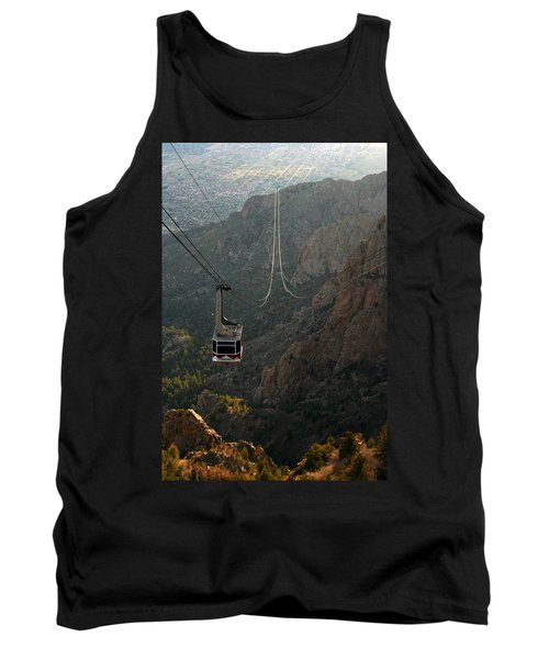 Sandia Peak Cable Car Tank Top by Joe Kozlowski