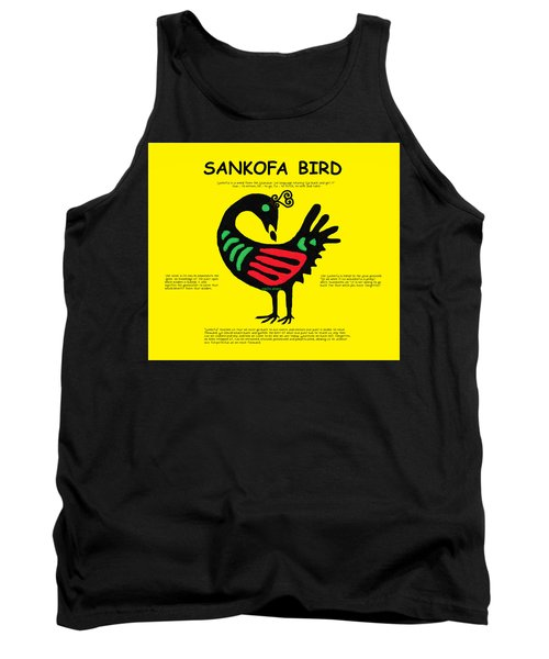 Sankofa Bird Of Knowledge Tank Top