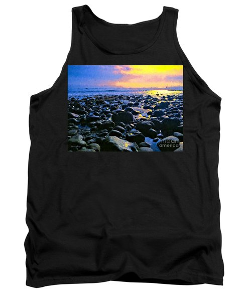 Santa Barbara Beach Sunset California Tank Top