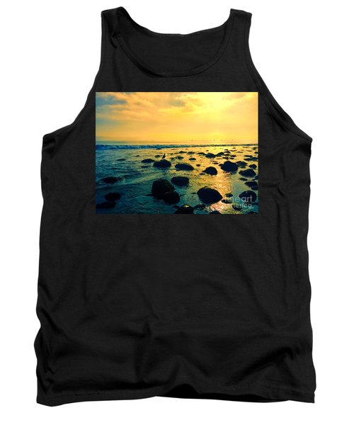 Santa Barbara California Ocean Sunset Tank Top