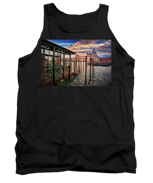 Santa Maria Della Salute From The Docks In Venice, Italy Tank Top