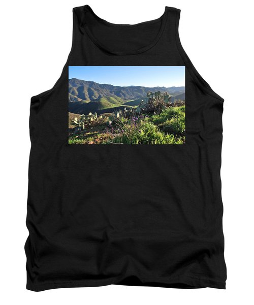 Tank Top featuring the photograph Santa Monica Mountains - Cactus Hillside View by Matt Harang