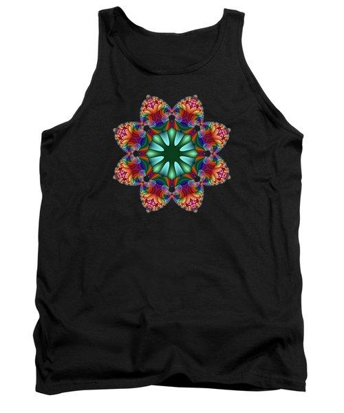 Satin Rainbow Fractal Flower II Tank Top
