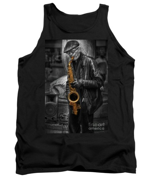 Sax Love Tank Top by Yhun Suarez