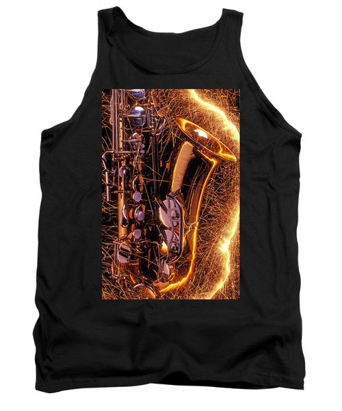 Sax With Sparks Tank Top