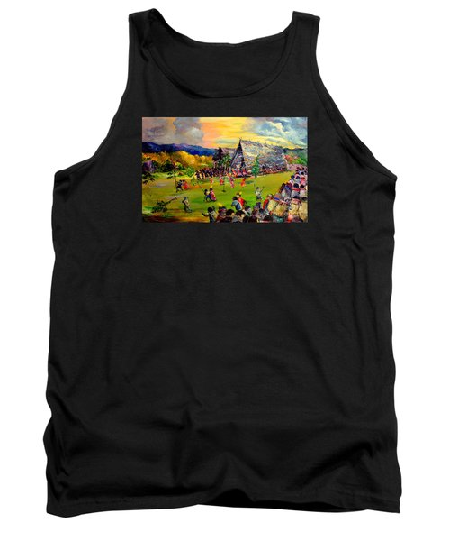 Tank Top featuring the painting Sbiah Baah by Jason Sentuf