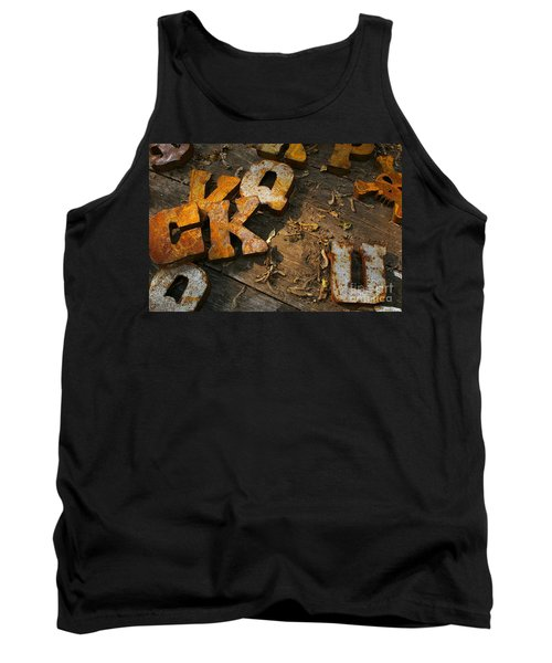 Scambled Letters Tank Top by Randy Pollard