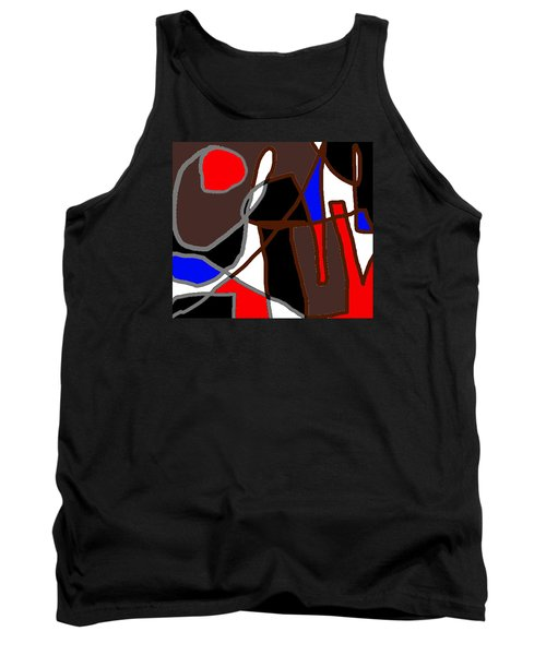 Scandal In Bohemia Original Abstract Expressionism Art Painting Tank Top by RjFxx at beautifullart com