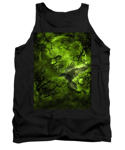 Scary Moon Tank Top
