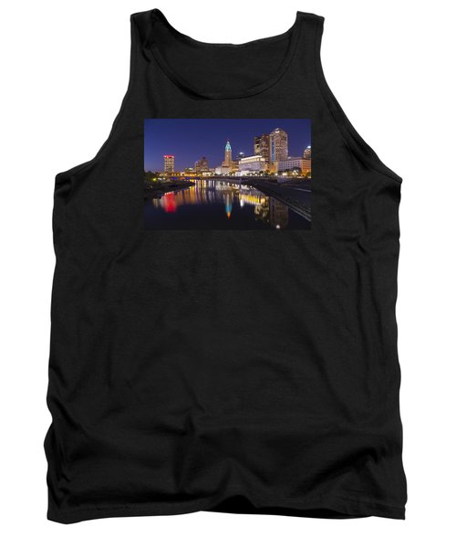 Scioto Reflections - Columbus Tank Top by Alan Raasch