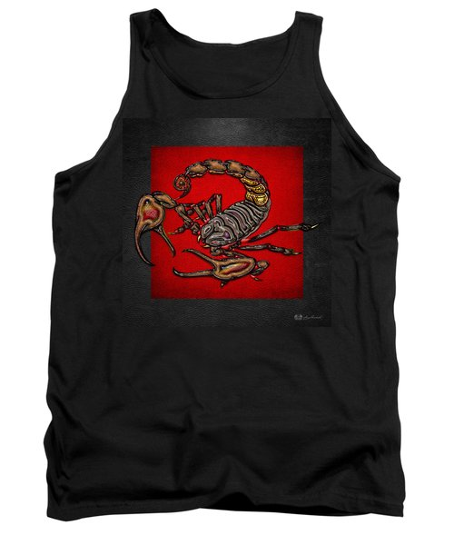 Scorpion On Red And Black  Tank Top