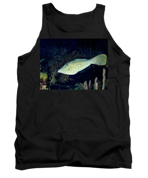 Tank Top featuring the photograph Scrawled Filefish by Jean Noren