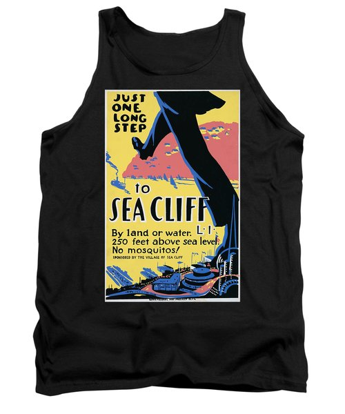 Sea Cliff Long Island Poster 1939 Tank Top