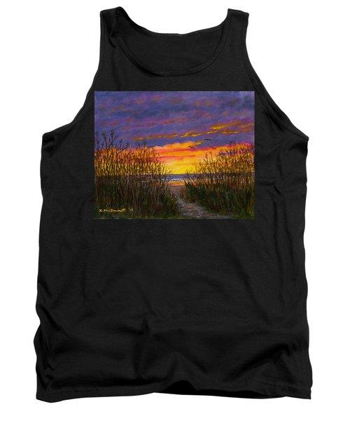 Tank Top featuring the painting Sea Oat Sunrise # 2 by Kathleen McDermott