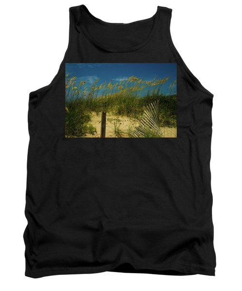 Sea Oats And Sand Fence Tank Top