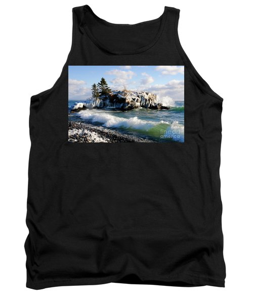 Sea Smoke At Hollow Rock Tank Top